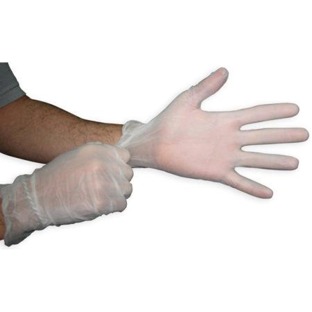 Guantes de vinilo, latex y nitrilo para uso médico